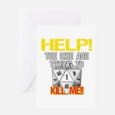 Killer Dice Greeting Card
