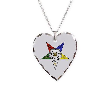 O. E. S. Emblem Necklace Heart Charm
