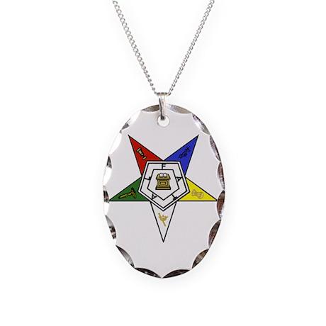 O. E. S. Emblem Necklace Oval Charm