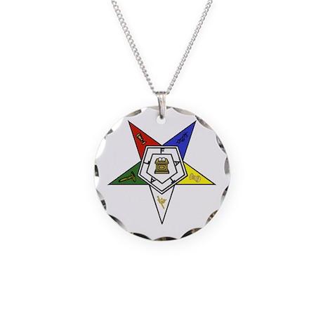 O. E. S. Emblem Necklace Circle Charm