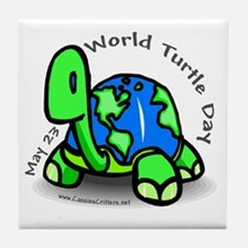 World Turtle Day Tile Coaster