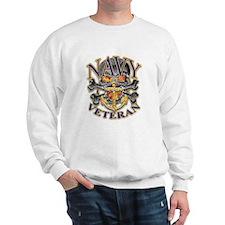 US Navy Veteran Skull Sweatshirt