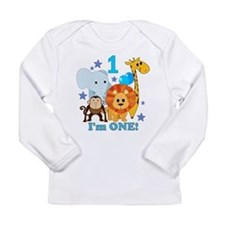 First Birthday Jungle Long Sleeve Infant T-Shirt