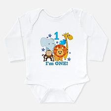 First Birthday Jungle Long Sleeve Infant Bodysuit