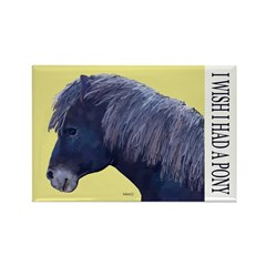 Cute Black Pony