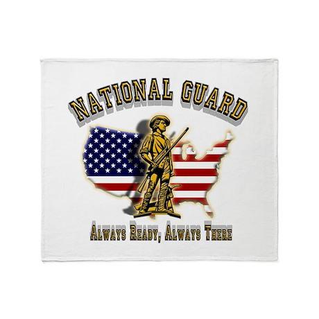 National Guard Always Ready Throw Blanket