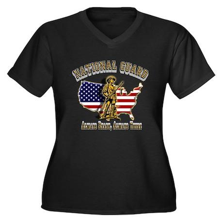 National Guard Always Ready Women's Plus Size V-Ne