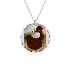 Red White Pigeon Necklace
