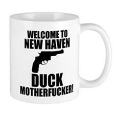 Welcome To New Haven Duck Mot Mug