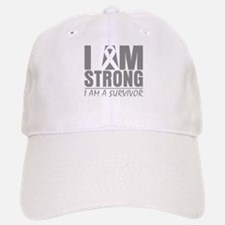 I am Strong Brain Cancer Hat
