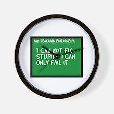 Teaching Philosophy Wall Clock