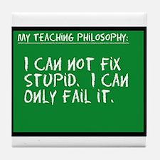 Teaching Philosophy Tile Coaster