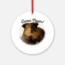 Guinea Piggin Ornament (Round)