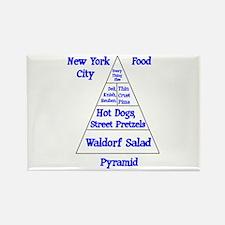 New York City Food Pyramid Rectangle Magnet