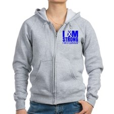 I am Strong Colon Cancer Zip Hoodie