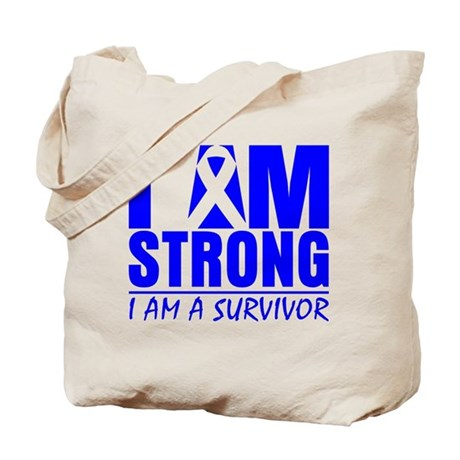 I am Strong Colon Cancer Tote Bag