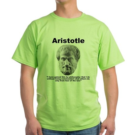 Aristotle Philosophy Green T-Shirt