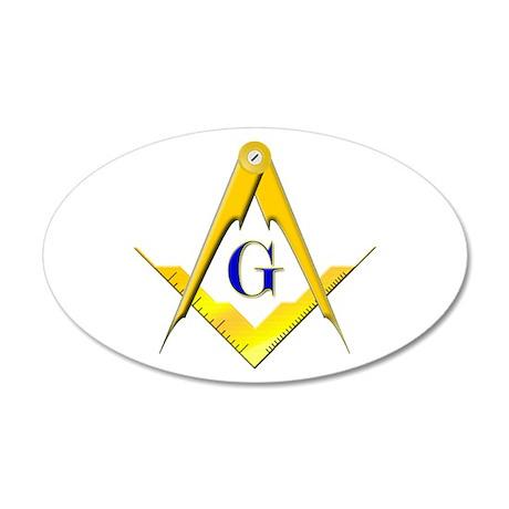 Masonic 22x14 Oval Wall Peel