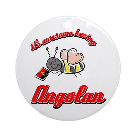 Awesome Being Angolan Ornament (Round)