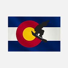 Colorado Snowboarding Rectangle Magnet