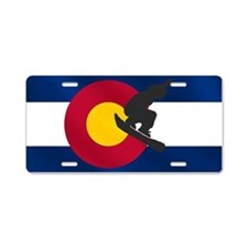 Colorado Snowboarding Aluminum License Plate
