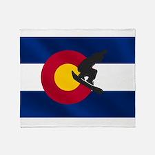 Colorado Snowboarding Throw Blanket