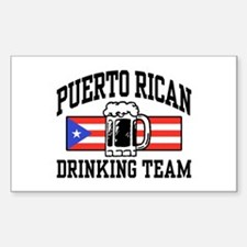 Puerto Rican Drinking Team Decal