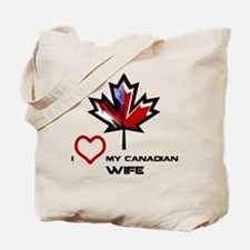Funny Canadian american Tote Bag