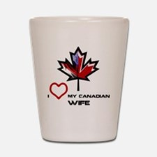 Cute Canadian american Shot Glass