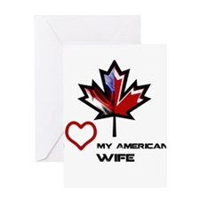 Funny Canada canadian american canadian american Greeting Card