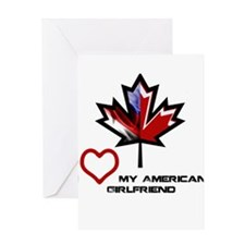 Cool Canada canadian american canadian american Greeting Card