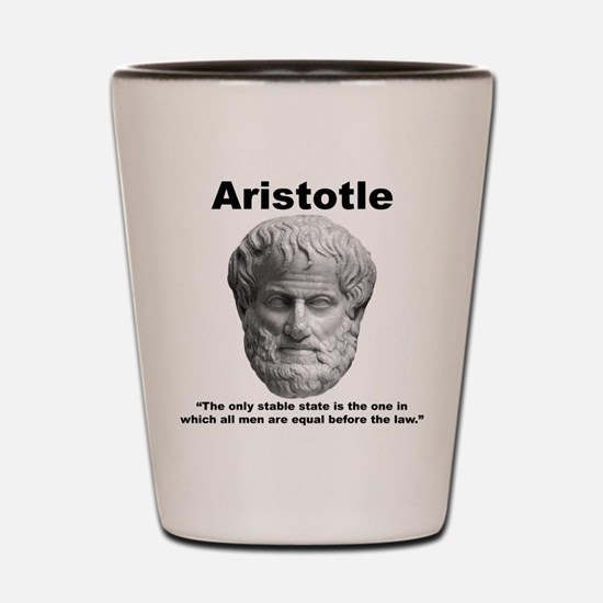 Aristotle Law Shot Glass