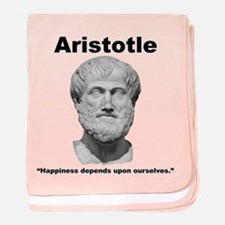 Aristotle Happiness baby blanket