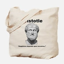 Aristotle Happiness Tote Bag