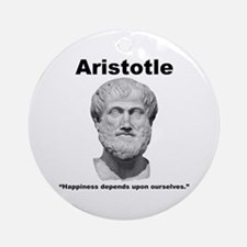 Aristotle Happiness Ornament (Round)