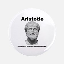 "Aristotle Happiness 3.5"" Button"