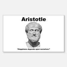 Aristotle Happiness Sticker (Rectangle)