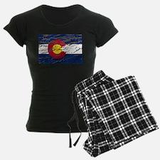 Colorado retro wash flag Pajamas