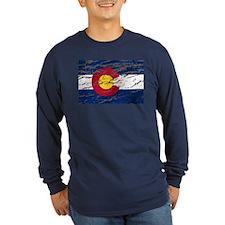 Colorado retro wash flag T