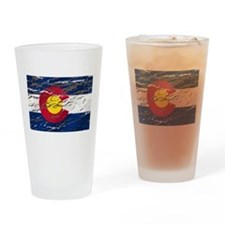 Colorado retro wash flag Pint Glass