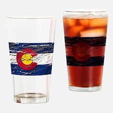 Colorado retro wash flag Pint Glass