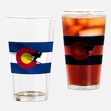 Colorado Skiing Pint Glass