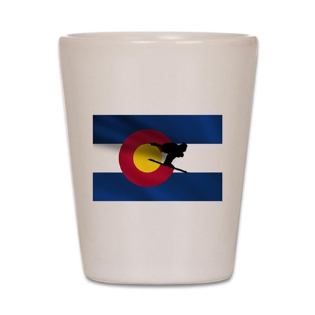 Colorado Skiing Shot Glass