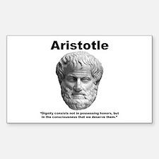 Aristotle Dignity Sticker (Rectangle)