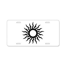 Tribal Sun Icon Aluminum License Plate