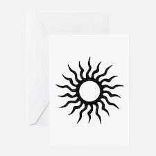 Tribal Sun Icon Greeting Card