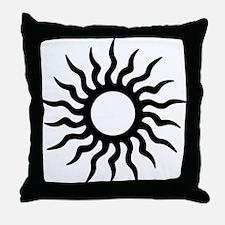 Tribal Sun Icon Throw Pillow