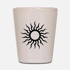Tribal Sun Icon Shot Glass