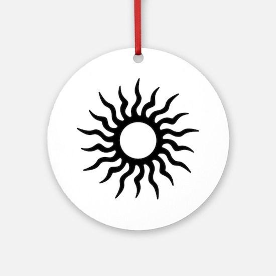 Tribal Sun Icon Ornament (Round)