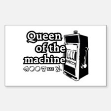 Queen of the machine Sticker (Rectangle)